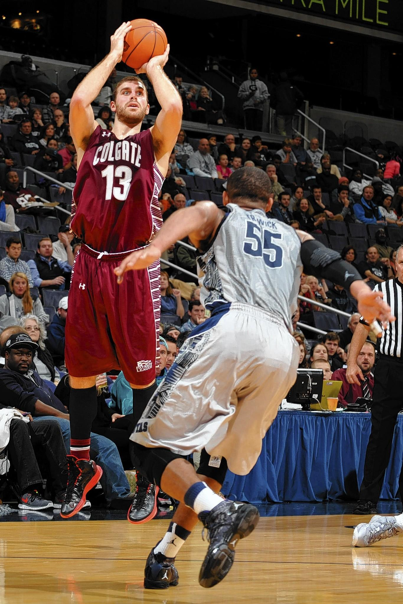 Colgate forward Murphy Burnatowski in a Dec. 7 game at Georgetown