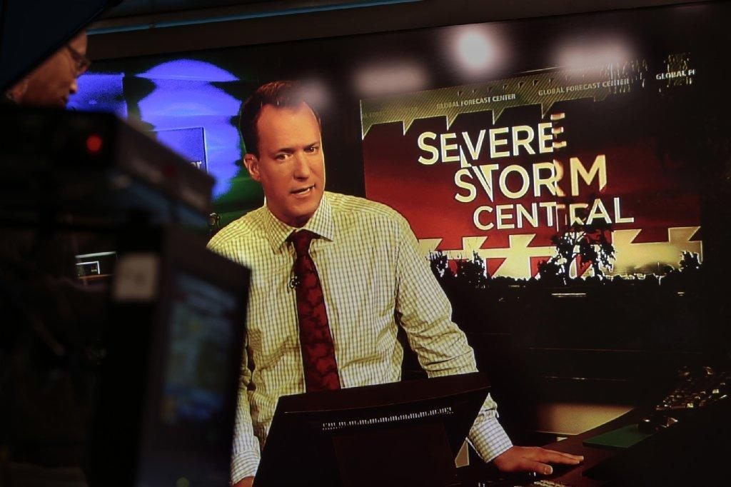 Weather Channel meteorologist Carl Parker.