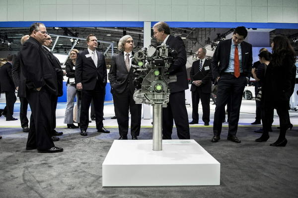 US Secretary of Energy Ernest Moniz at the Washington Auto Show