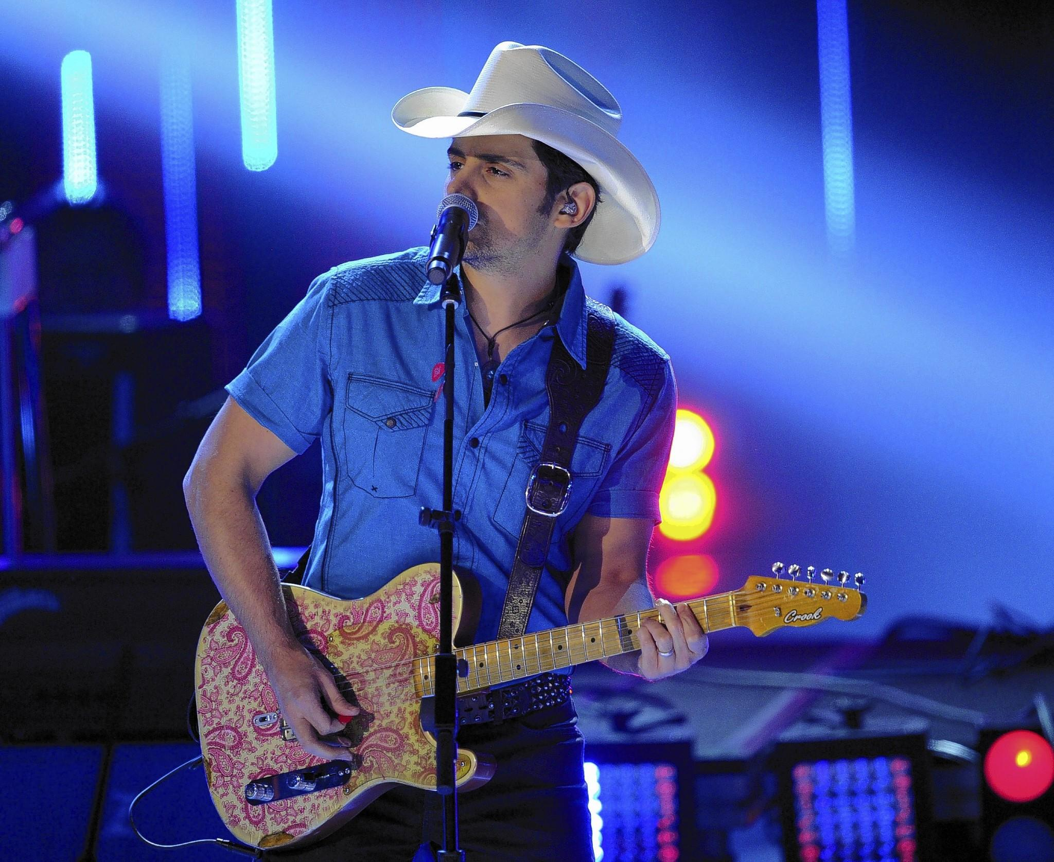 Singer Brad Paisley will perform Jan. 25 at Amway Center in Orlando.