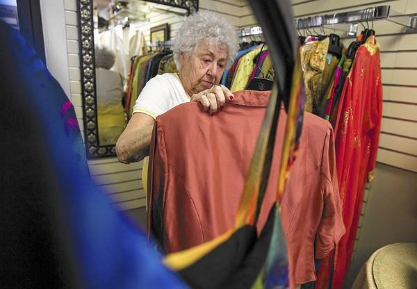 Doris Booth shops at the Assistance League Thrift Shop in Huntington Beach.
