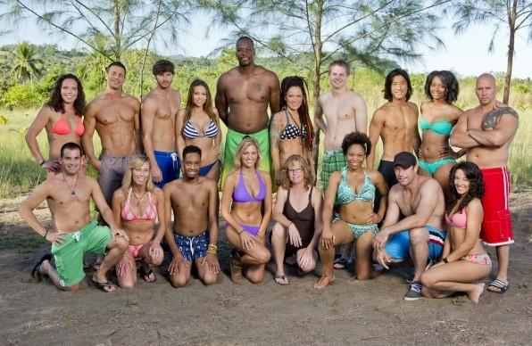 "Miami Marlins President David Samson (bottom left) is among the castaways on ""Survivor: Cayaguan,"" which begins airing Feb. 26 on CBS."