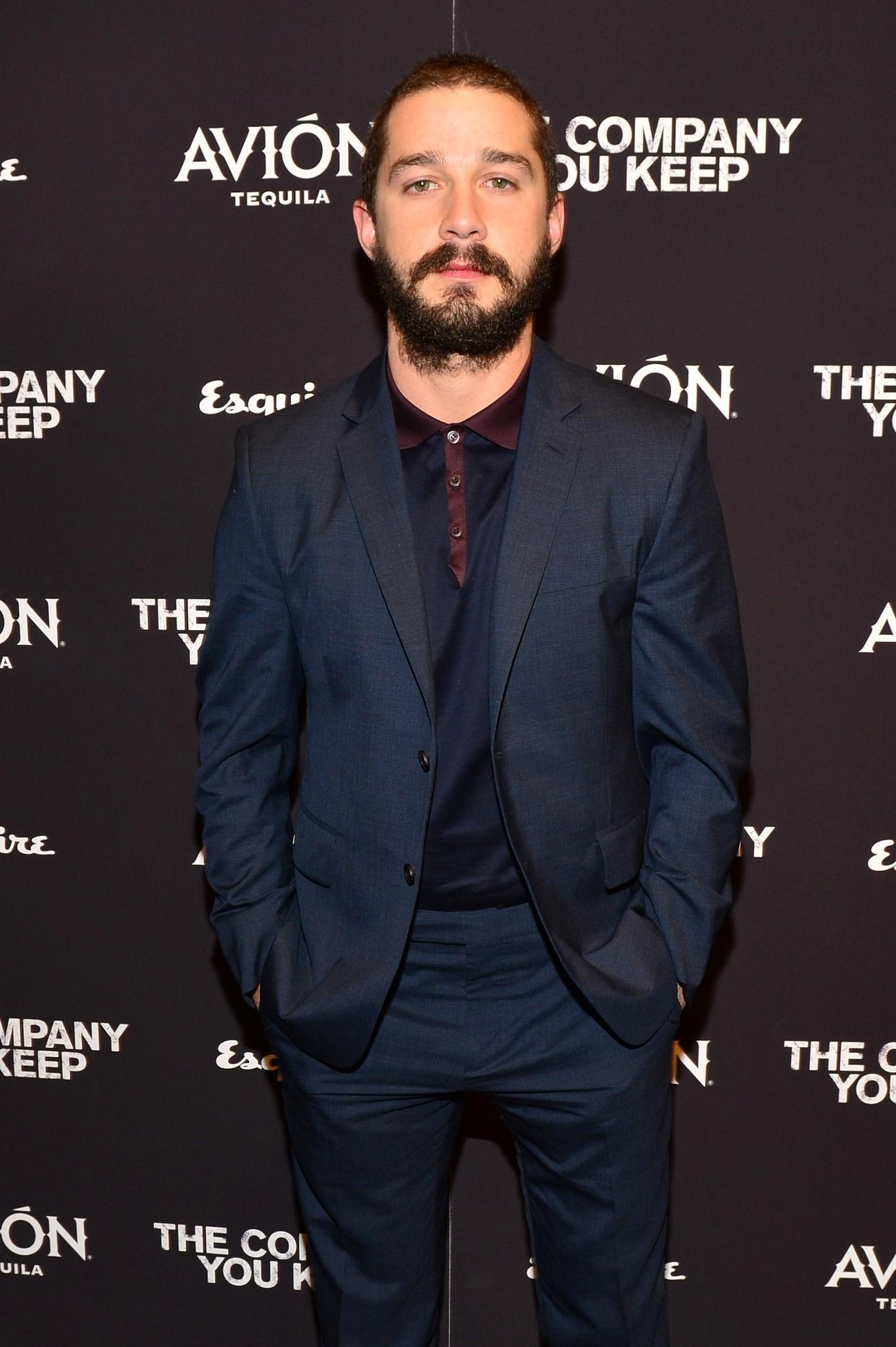 "Actor Shia LaBeouf attends ""The Company You Keep"" premiere in New York in 2013."