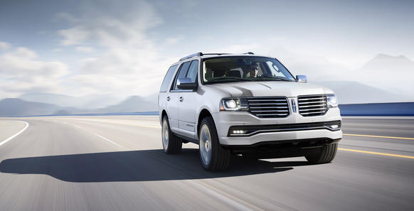 The 2015 Lincoln Navigator replaces the outgoing V-8 with a 3.5-liter, twin-turbocharged V-6 engine that makes 370 horsepower and 430 pound-feet of torque. The Navigator will go on sale in the fall.