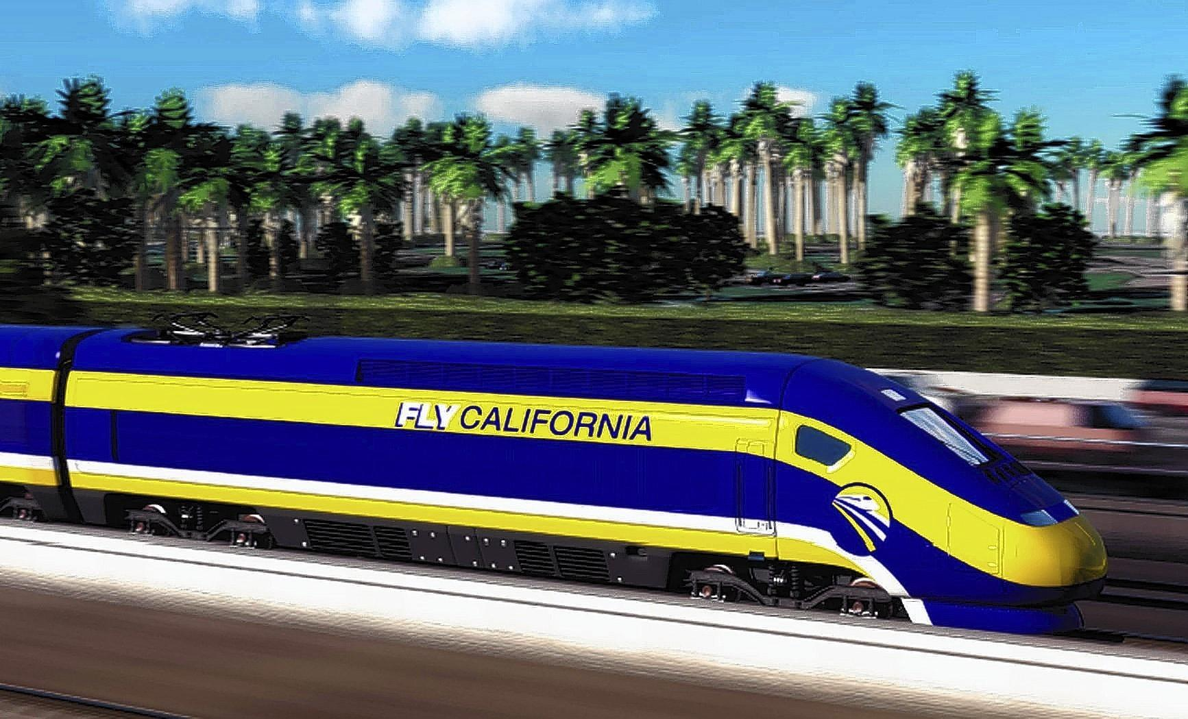 An artist's rendering of the bullet train.
