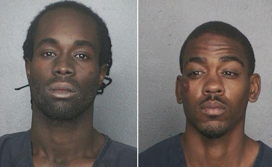Gregory Rowe and Michael Black were arrested Wednesday after the stolen truck they were in crashed into a guardrail, Lauderhill police aid.