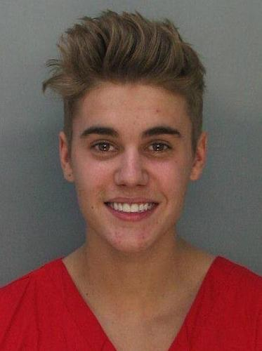 Pop singer Justin Bieber was arrested early Thursday, Jan. 23, 2014, in Miami Beach on charges of driving under the influence, resisting arrest without violence and having an expired driver's license.