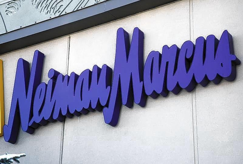 The Neiman Marcus sign outside a store in Golden, Colorado.
