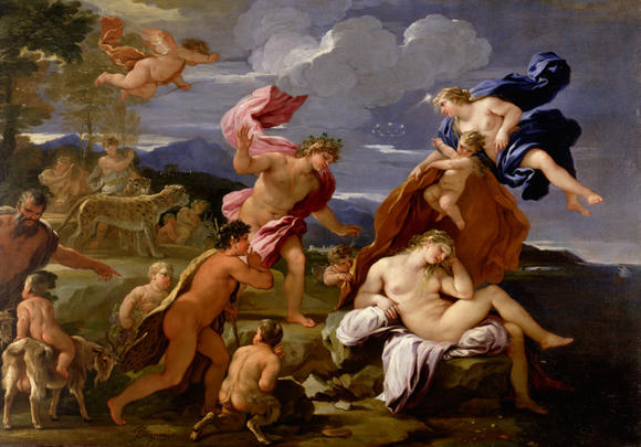 """Bacchus and Ariadne"" by Luca Giordano is at the Chrysler Museum of Art"