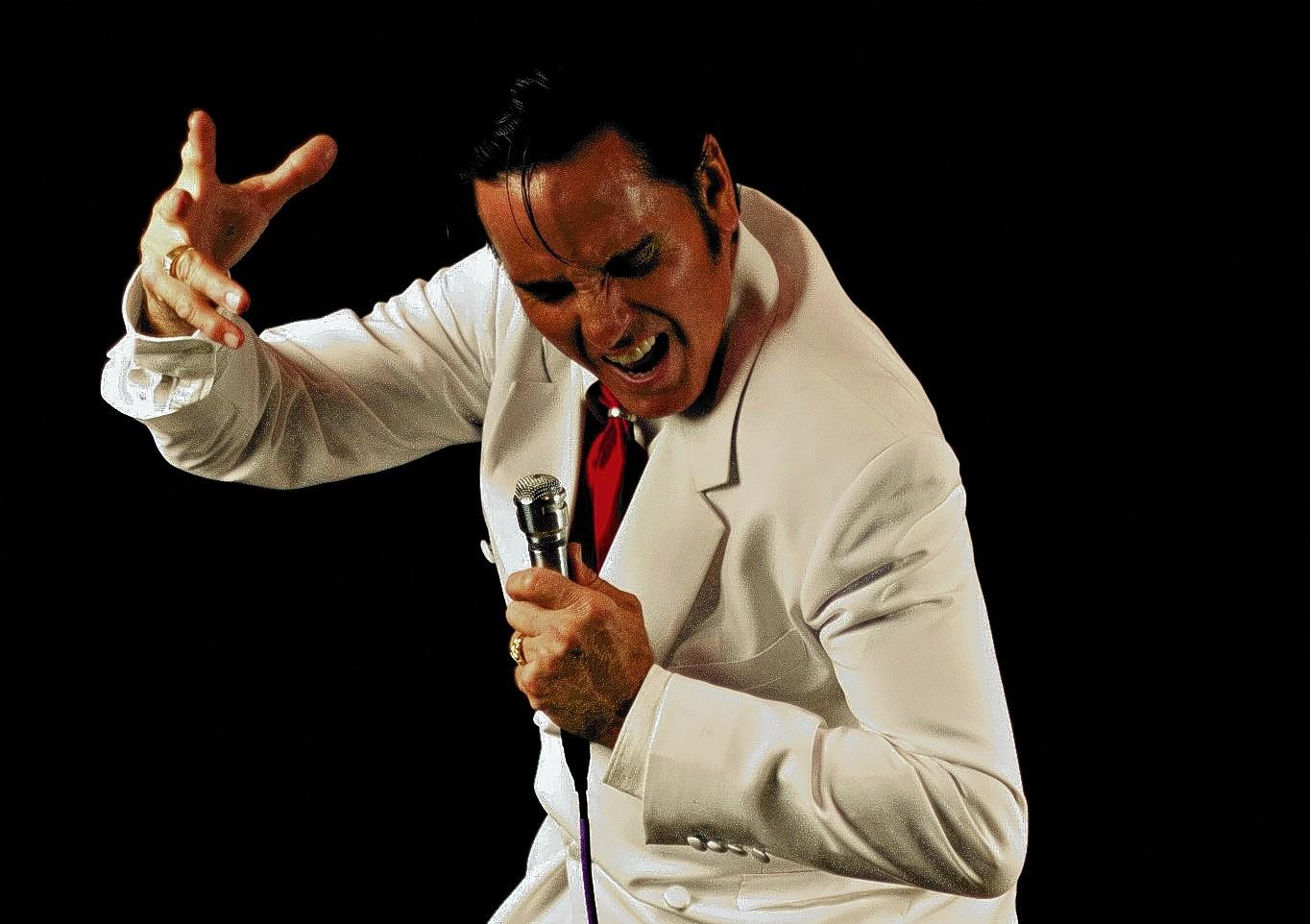 David Jericko, who performs as Elvis.