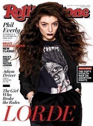 Lorde on the cover of Rolling Stone