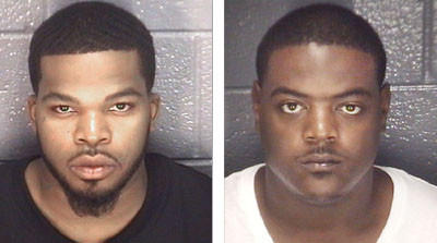 Zachary Lamont Batts, left, of Newport News, and Andre Marquis Monroe, of Hampton, are both charged with shooting 29-year-old Terrell Gerard Owens to death June 11, according to police.