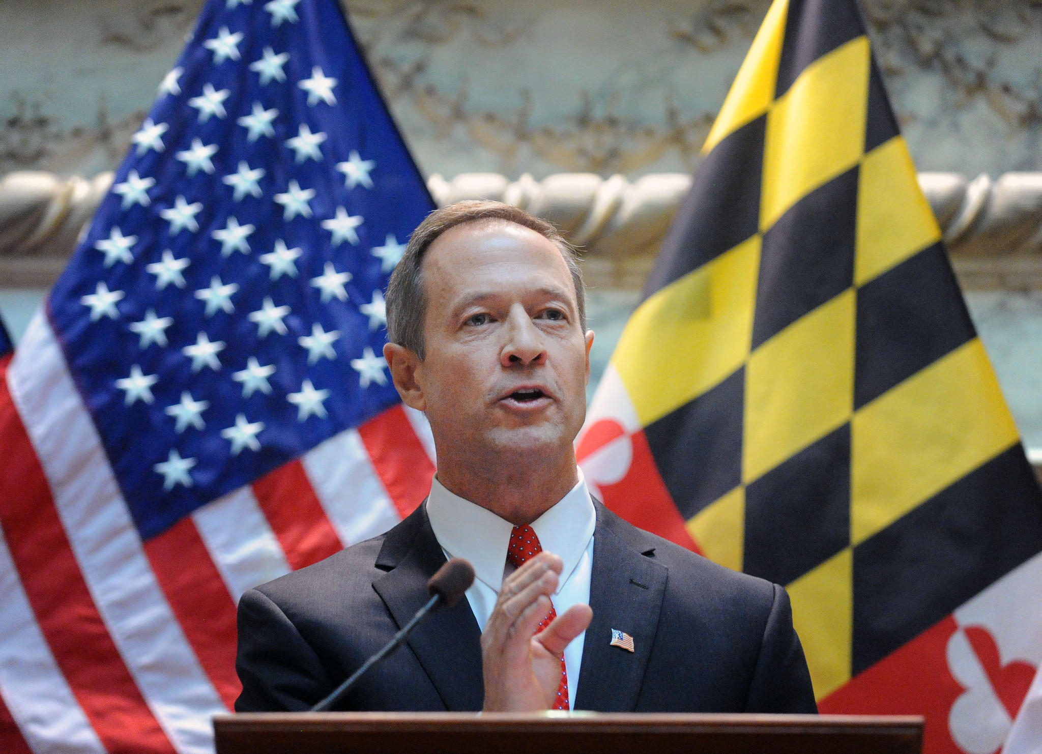 Martin O'Malley delivers his final State of the State address as governor on Jan. 23, 2014.