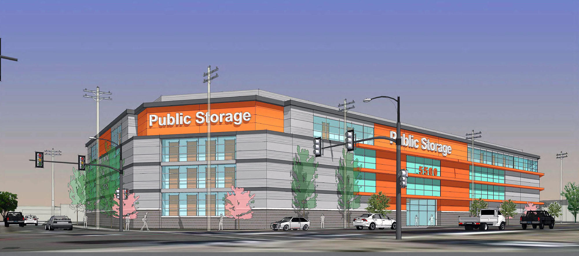The Glendale City Council approved a a 174,266-square -foot Public Storage facility to be built in the 5500 block of San Fernando Road.