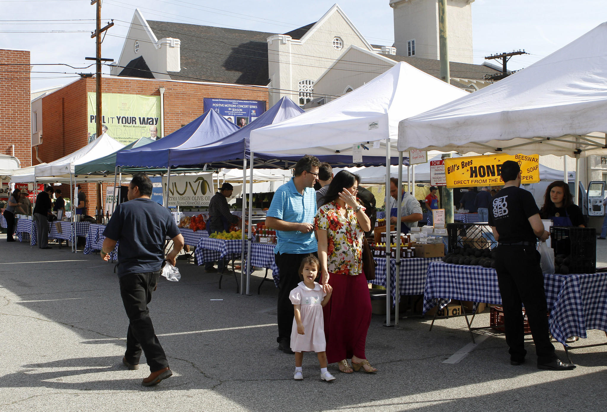 The Glendale Farmers Market has been in its new location, the parking lot of the First Baptist Church, for three weeks now. About 35 vendors are at the new location, pictured on Thursday, Jan. 23, 2014.