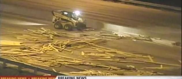 All westbound lanes of I-4 were closed after a truck hauling lumber lost its load at the Maitland Blvd. exit.