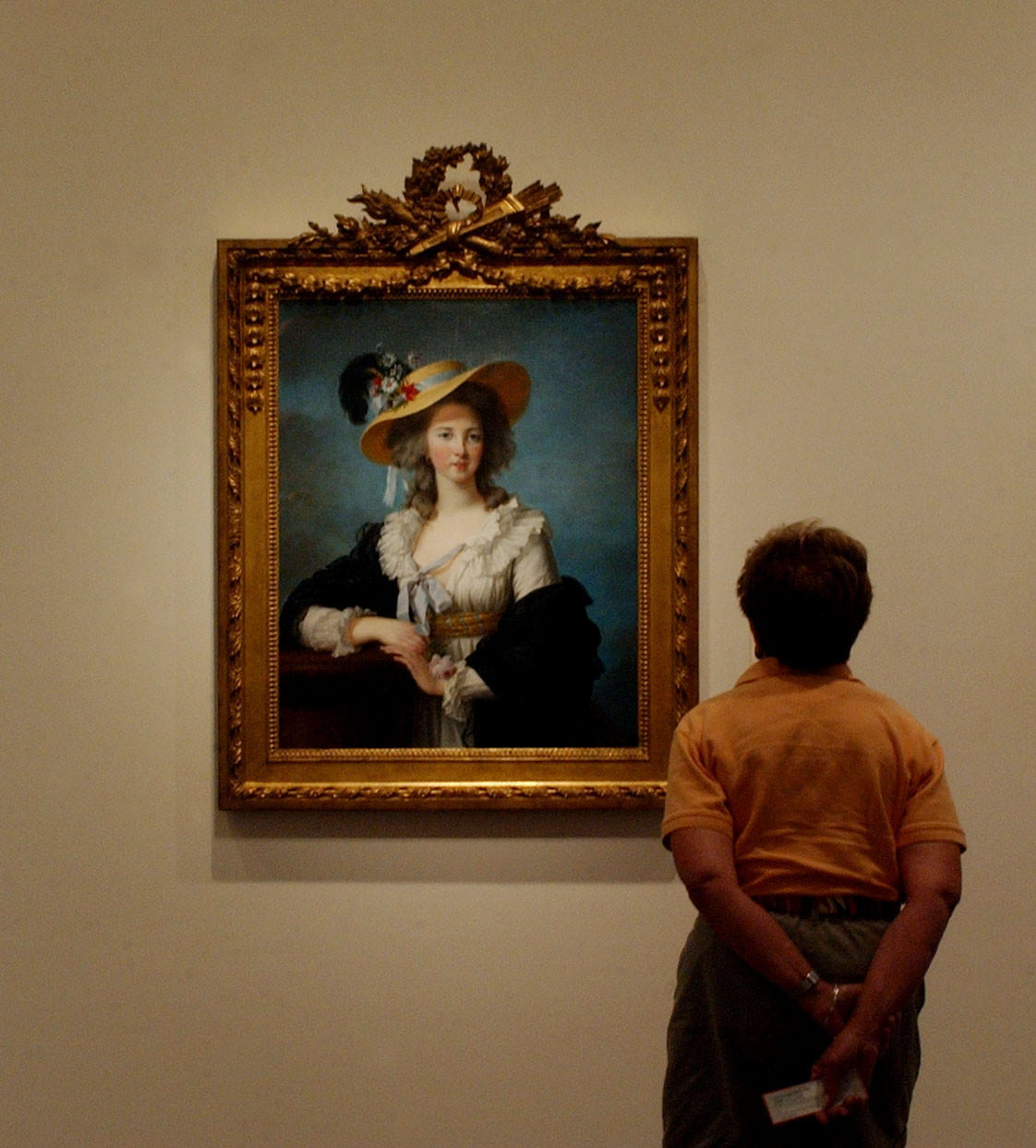 """Duchesse de Polignac in a Straw Hat"" hangs at the Wadsworth Atheneum Museum of Art in Hartford. It is e believed that the French painter, Elisabeth Louise Vigee Le Brun, created the portrait for her own private collection in 1782. The Atheneum has received a gift to be used to purchase pre-19th century European art."