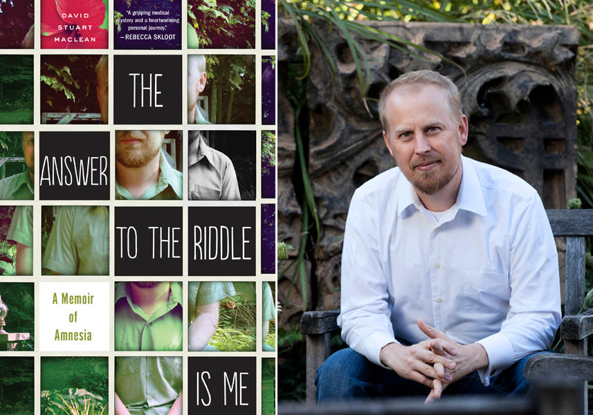 "The cover of ""The Answer to the Riddle Is Me"" and author David Stuart MacLean."