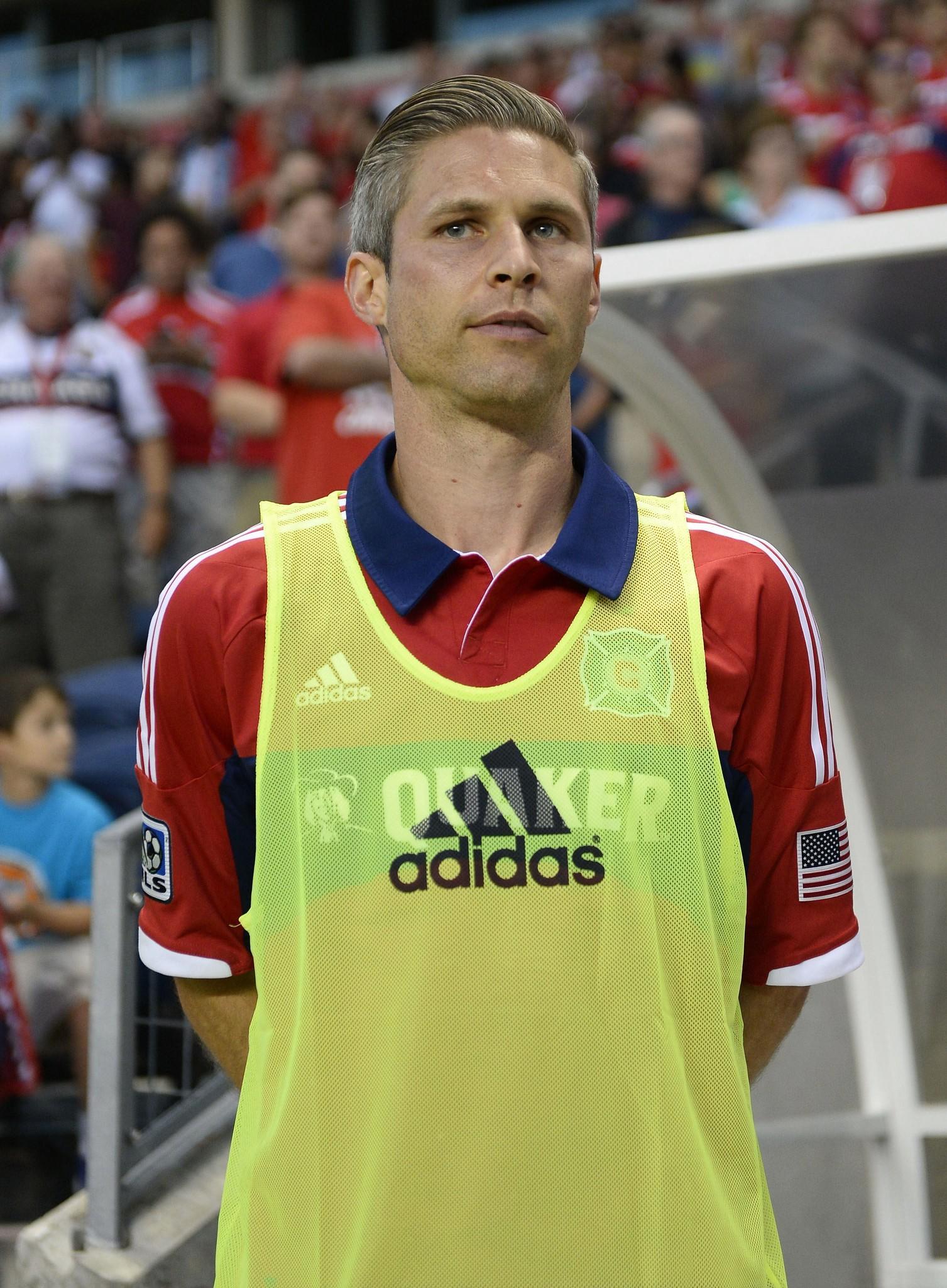 Chicago Fire midfielder Logan Pause.