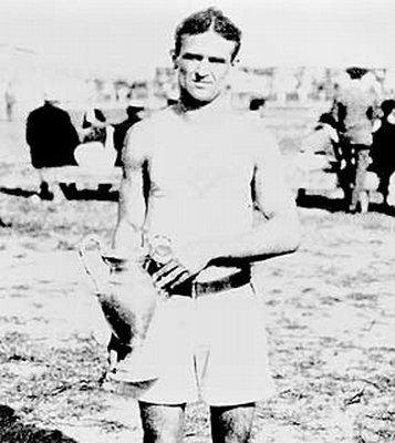 """Fred Lorz was a long-distance runner best known for """"winning"""" the marathon in the 1904 Summer Olympic Games. In reality, Lorz became so tired at the ninth mile that he hitched a ride in his trainer's car for the next 11 miles. When the car broke down, Lorz returned to the stadium on foot, where he broke the tape and was considered the winner. He initially went along with the victory but eventually admitted to the stunt. Thomas Hicks was named the real winner."""