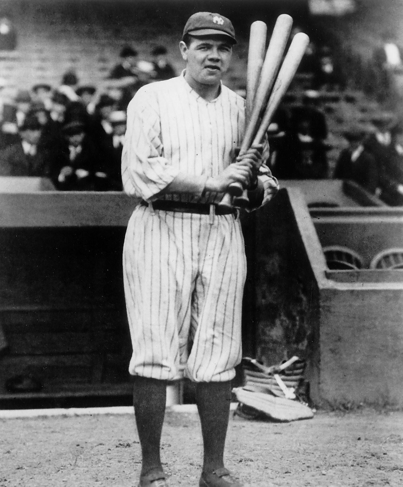 An undated photo of Babe Ruth.