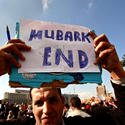 Demanding Mubarak step down