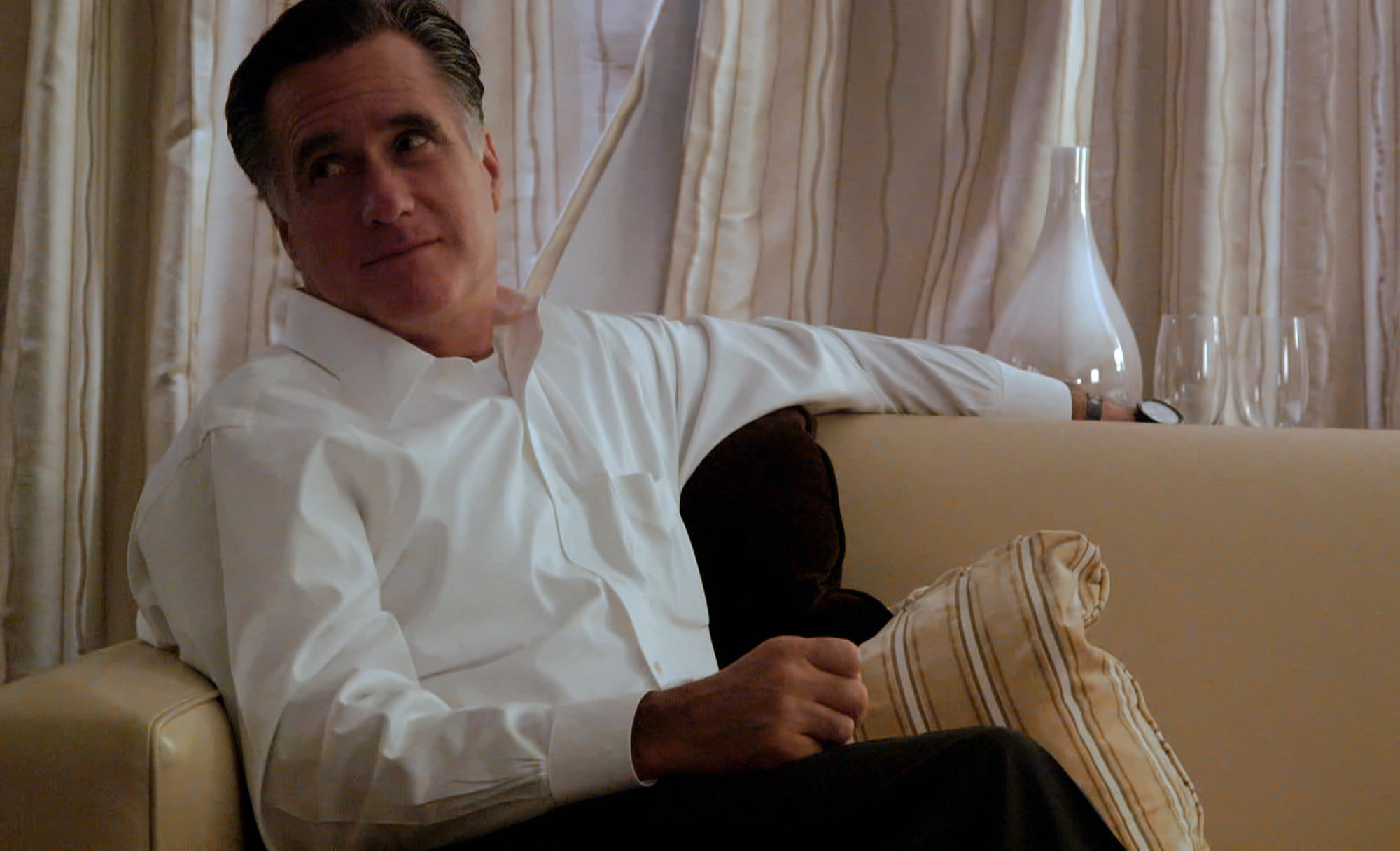 "Mitt Romney in the Netflix documentary ""Mitt,"" a backstage look at Romney's GOP presidential candidacy starting in 2006."