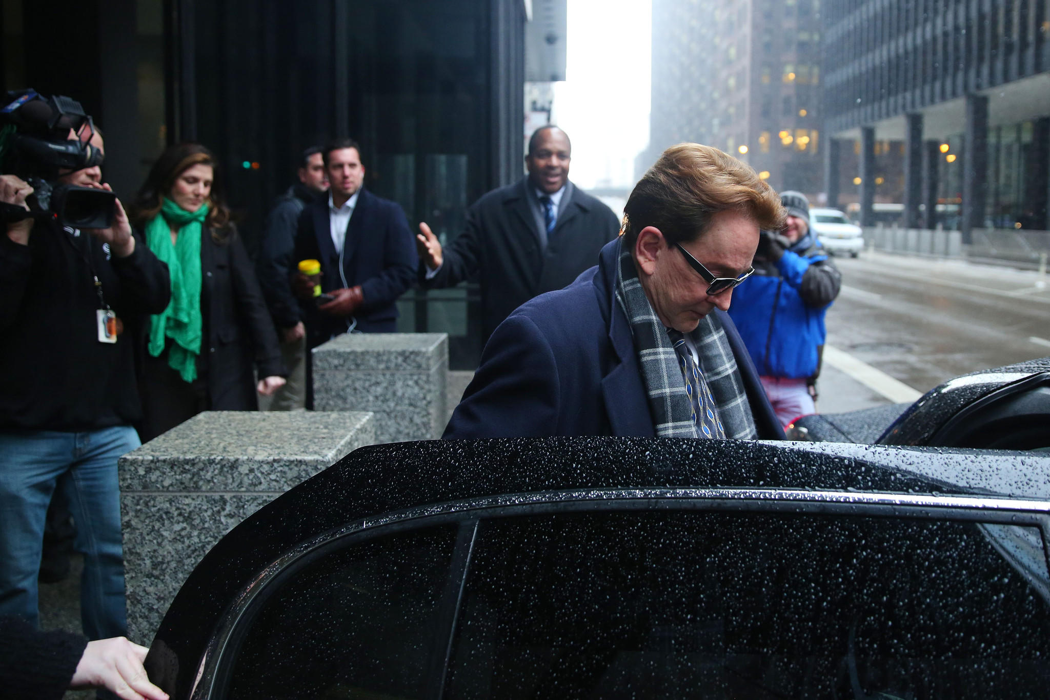 Beanie Babies founder Ty Warner leaves the Dirksen U. S. Courthouse after being sentenced to probation in Chicago.