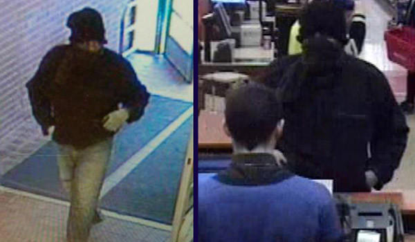 Surveillance photos of a man who robbed a TCF Bank branch in Arlington Heights on Friday, Jan. 24.