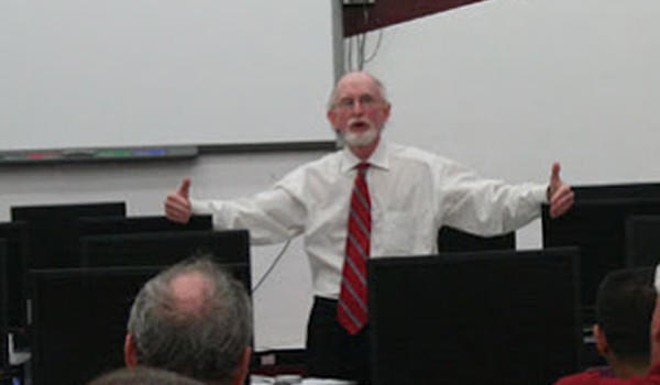 Brother Rice High School teacher Al Filan in a 2012 photograph from the school's website.