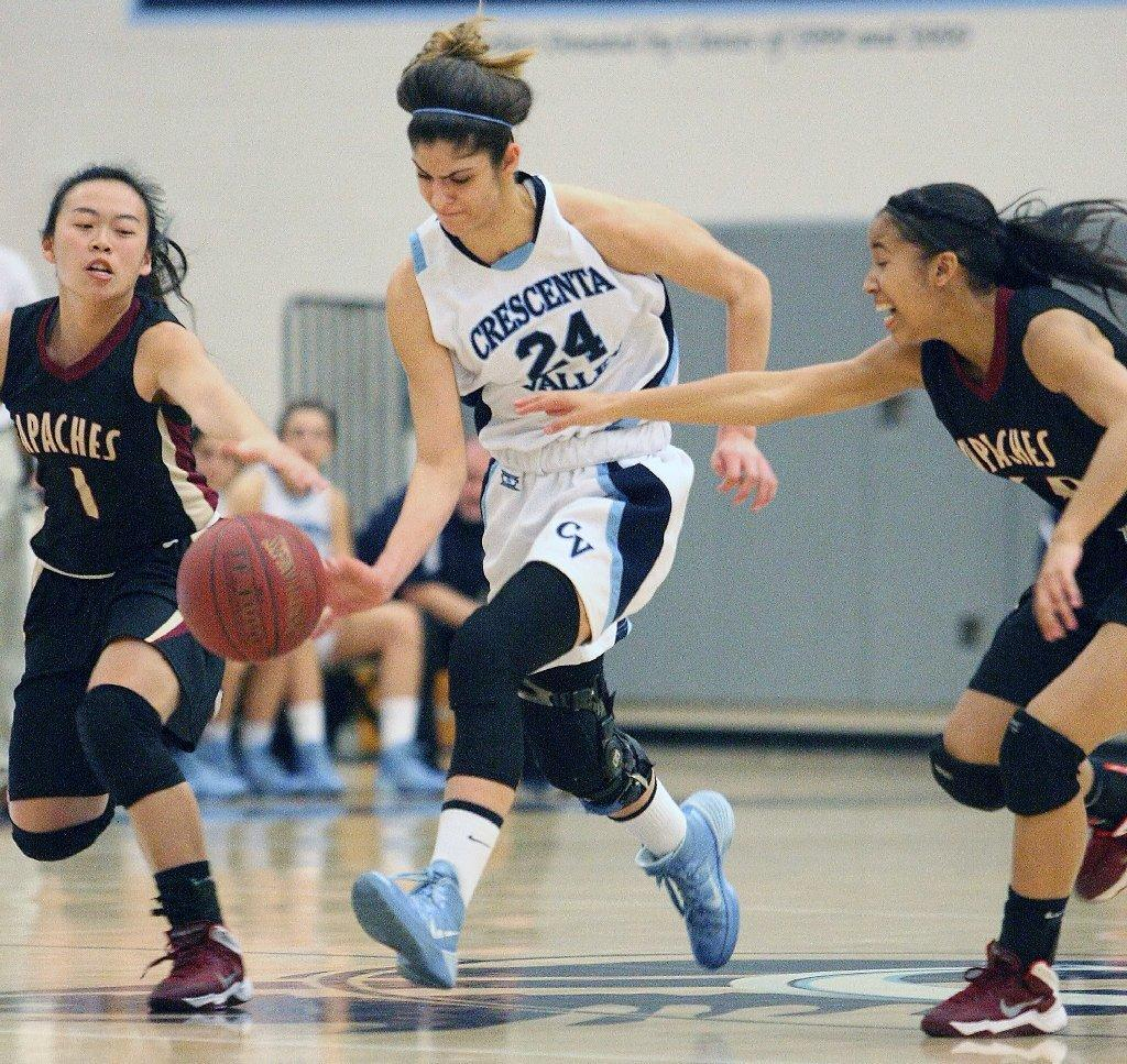 Crescenta Valley High's Ella Stepanian and the Falcons took down Arcadia on Friday night.