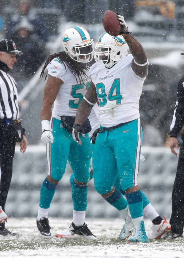 The defensive tackle played in all 16 games for the Miami Dolphins for the sixth straight season. He had 49 tackles, four sacks, a forced fumble and a fumble recovery.
