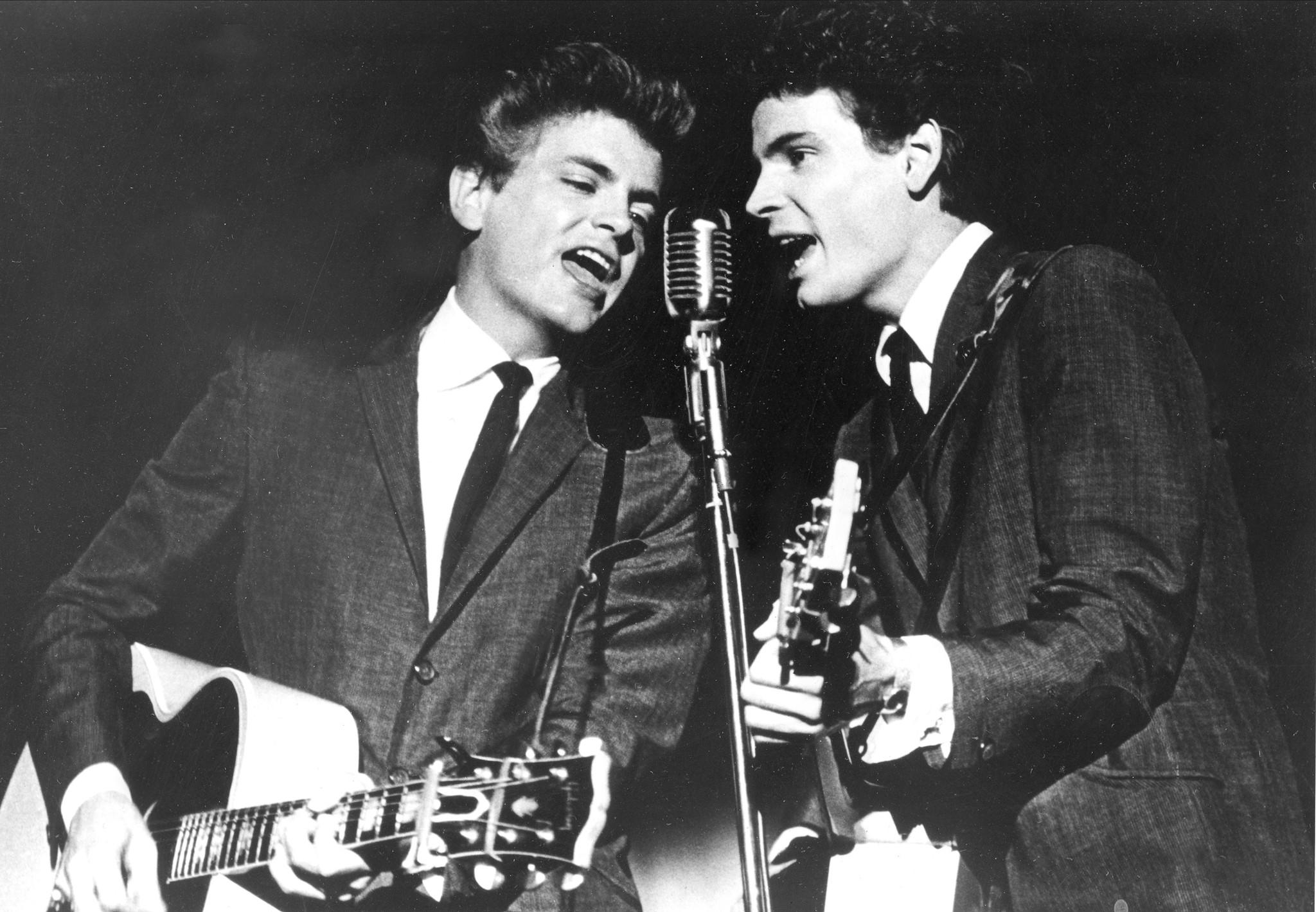 Phil Everly, left, and his brother Don, shown in 1964, will be saluted by Bonnie Raitt, Rodney Crowell, Ry Cooder and others on Saturday at the Troubadour in West Hollywood.