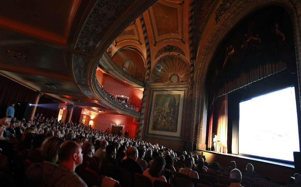 Hundreds are expected to turn out Saturday for the sixth anniversary of the Bringing Back Broadway campaign, which will include tours of some of downtown Los Angeles' historic theaters, including the Palace Theater, above.