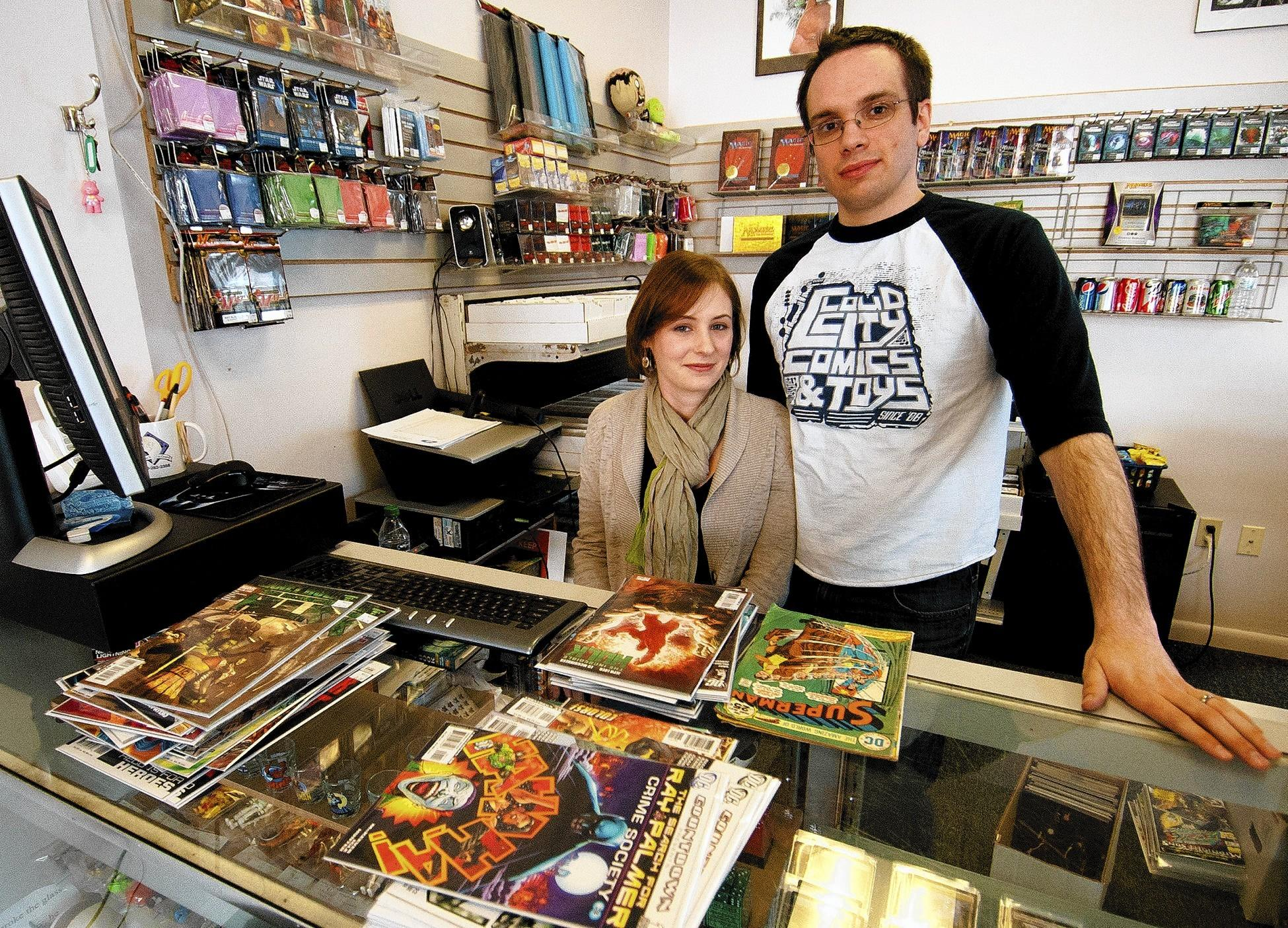 Faith and Aaron Garritillo are the owners of Cloud City Games in Allentown.