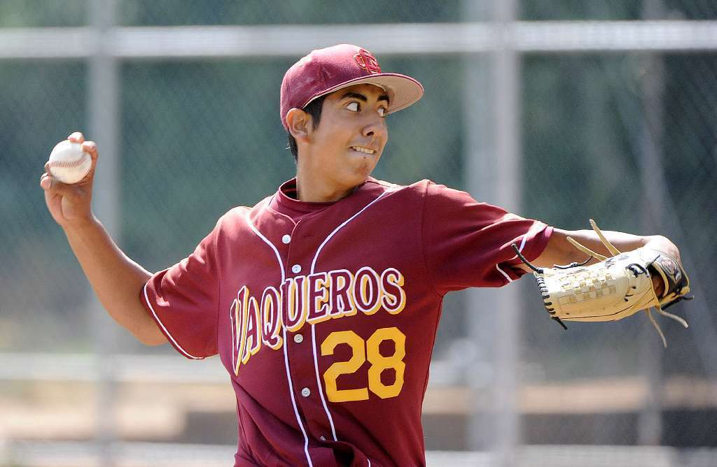 Glendale Community College pitcher Angel Rodriguez was one of four Vaqueros selected as a preseason All-American. (Tim Berger/File Photo)