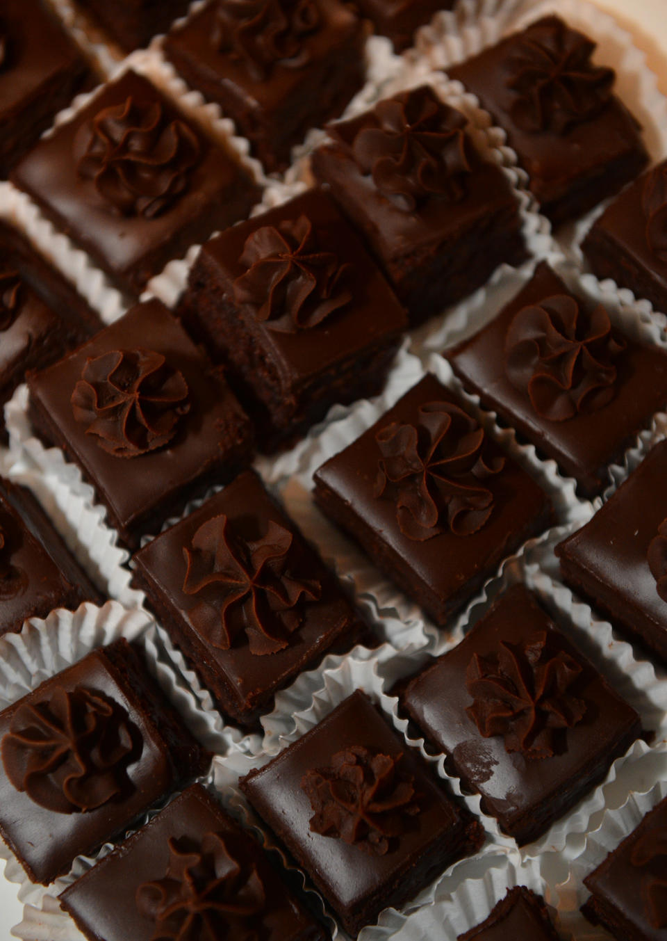 Rows of chocolate -PICTURES: Chocolate Lovers' Soiree in Easton