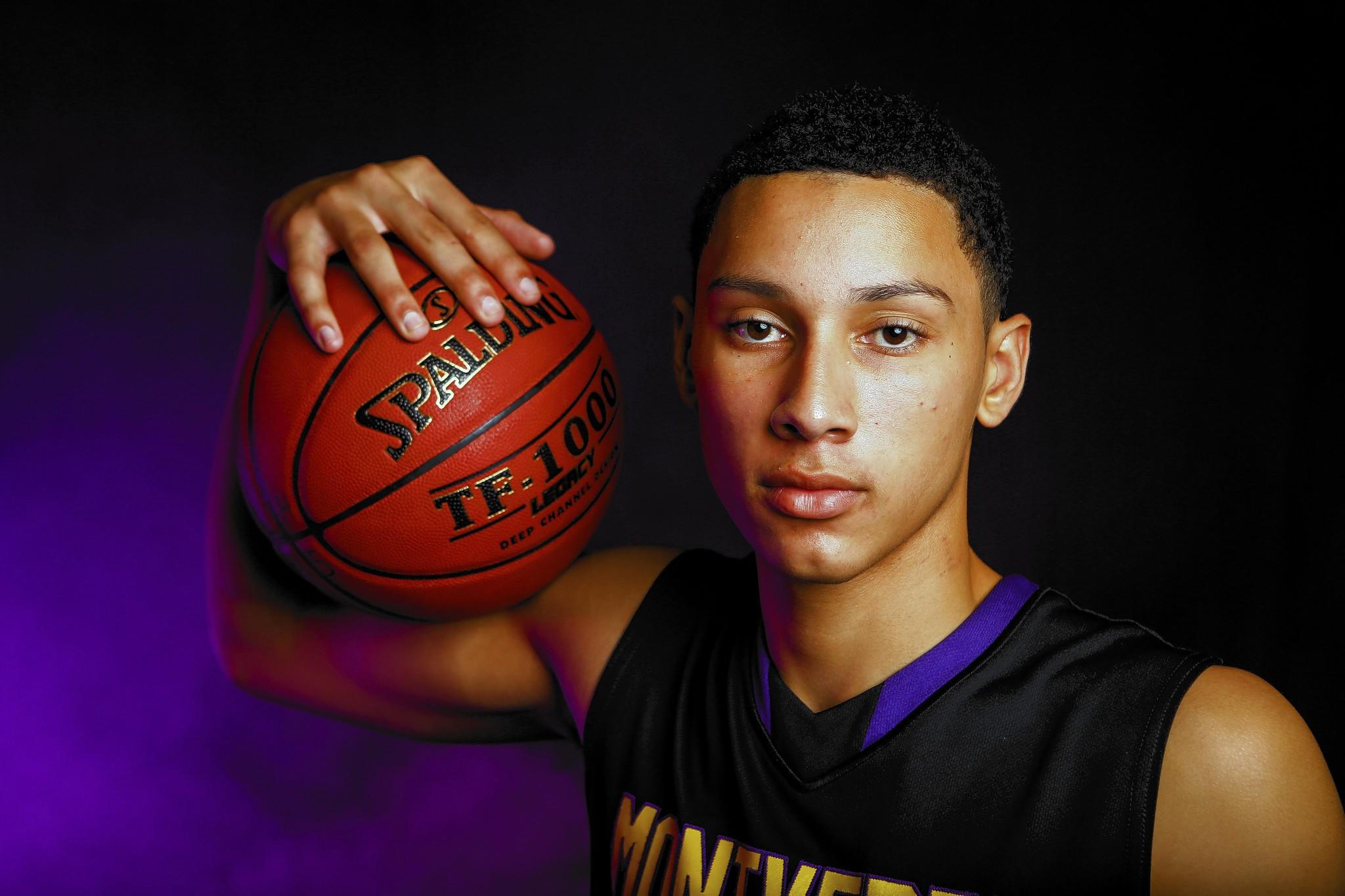 Ben Simmons of Montverde Academy poses for photos during Varsity Basketball Media Day at Lake Highland Prep in Orlando, FLA. on Sunday November 10, 2013. (Joshua C. Cruey/Orlando Sentinel)