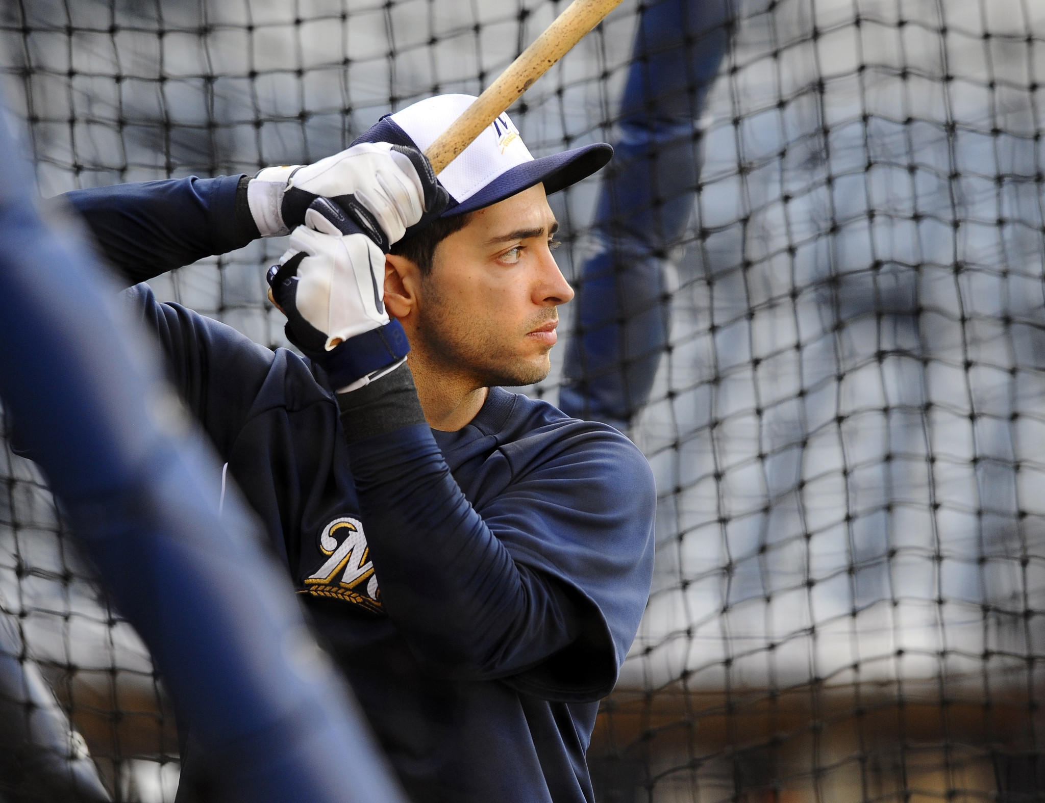 The Brewers' Ryan Braun during batting practice prior a game in 2013.