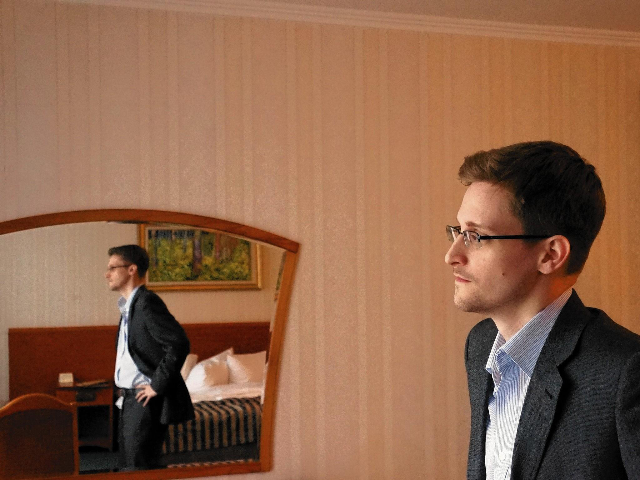 Edward Snowden, the former National Security Agency contractor who revealed information about NSA surveillance programs, is seen in a Moscow hotel room last month.
