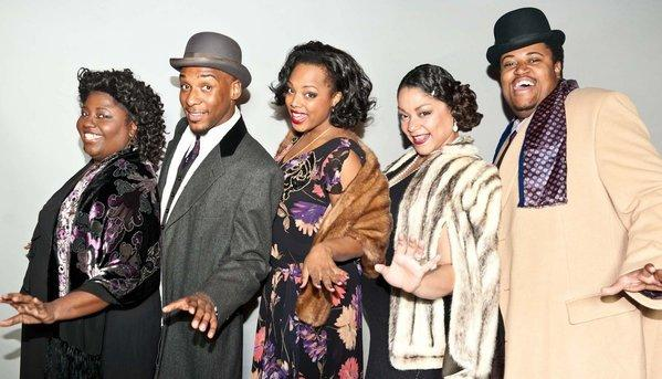 "The ""Ain't Misbehavin'"" cast (pictured left to right): Robin DaSilva, Donterrio Johnson, Sharriese Hamilton, Lina Wass and Lorenzo Rush, Jr."