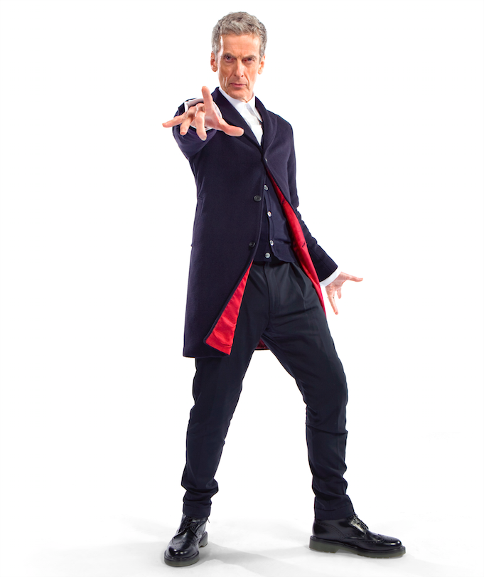 Peter Capaldi sports a new look as the 12th Doctor Who.
