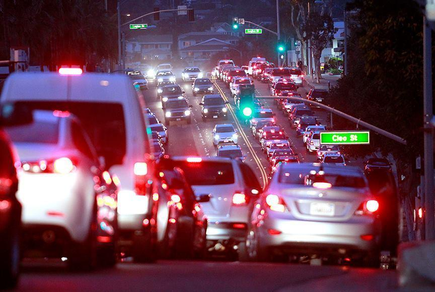 A fatal car crash closed North Coast Highway near the city limits at Irvine Cove in north Laguna, snarling traffic to a standstill from Thalia Street all the way out to Laguna Canyon Road on Sunday evening.