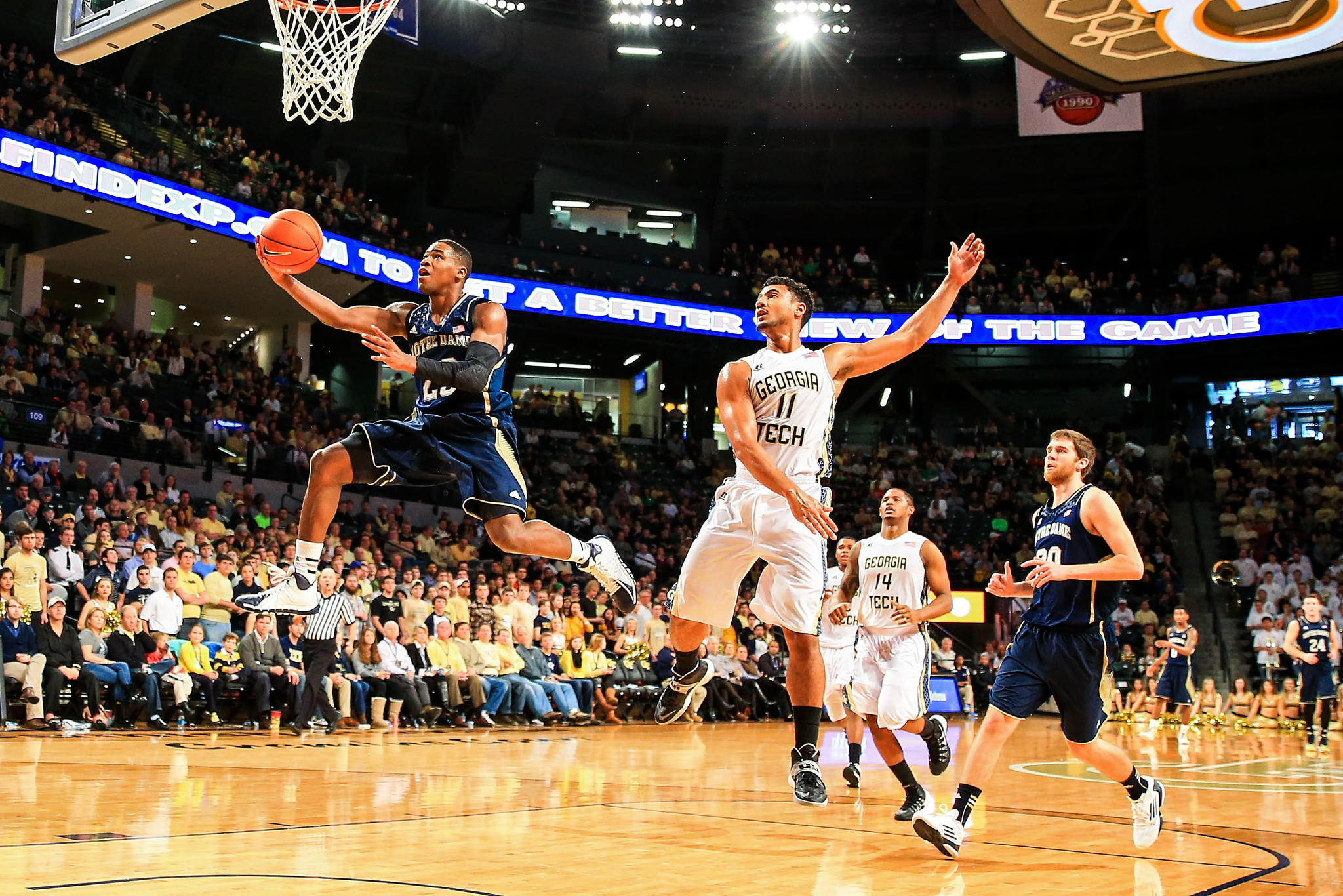 Notre Dame's Demetrius Jackson shoots past Georgia Tech's Chris Bolden in the first half at Hank McCamish Pavilion.