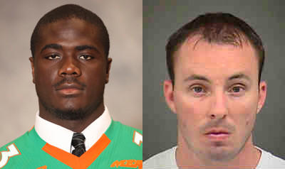 Randall Kerrick (R) is accused of shooting and killing Jonathan Ferrell (L) while Ferrell was unarmed.