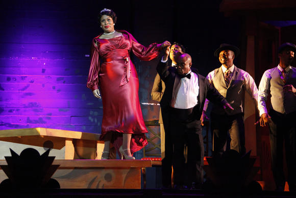 "Karen Marie Richardson has the title role in Long Beach Opera's  ""Queenie Pie,"" an opera on which Duke Ellington was working when he died in 1974."