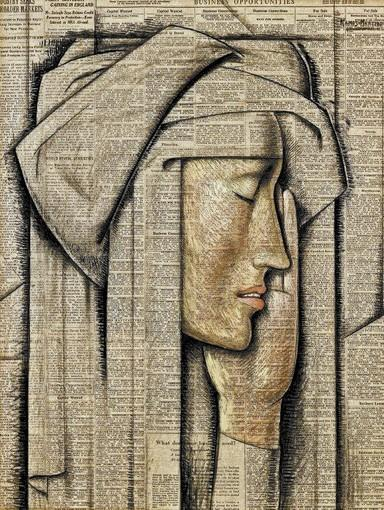 "Alfredo Ramos Martinez's ""Head of a Nun"""