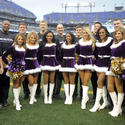 Ravens cheerleaders vs. Patriots