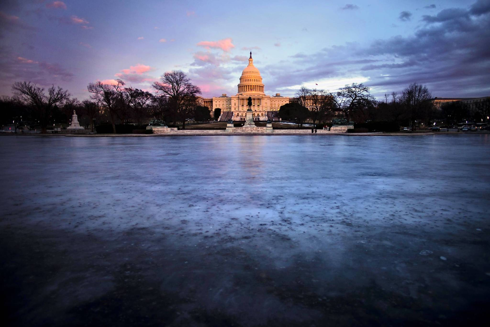 A view of the U.S. Capitol on Jan. 27, 2014, in Washington, D.C.,the evening before President Obama will deliver his State of the Union address to a joint meeting of Congress.