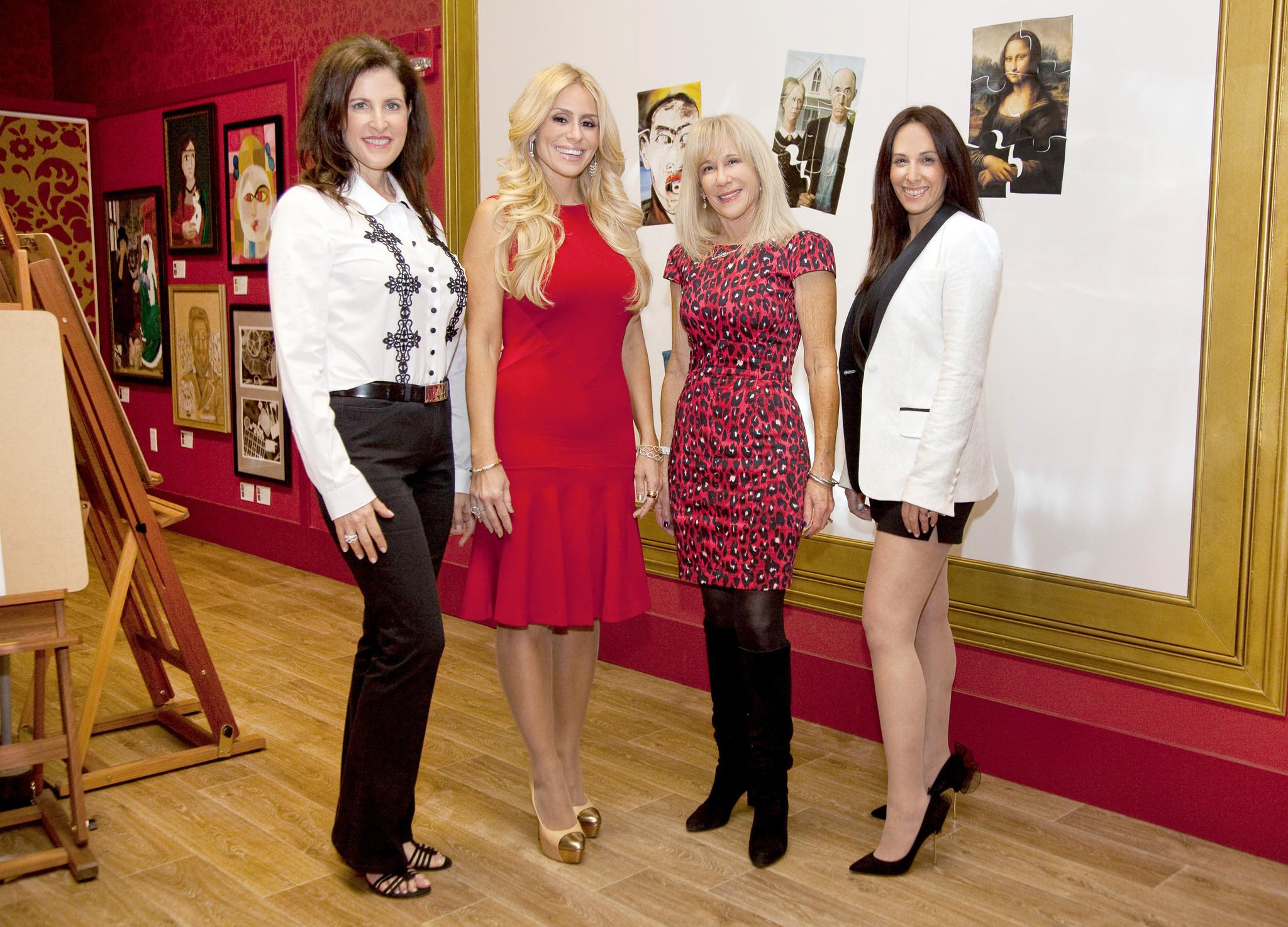 Society Scene photos - Martine Zinn, left, Maya Ezratti, Mindy Shrago and Jodi Epstein support Young At Art Museum